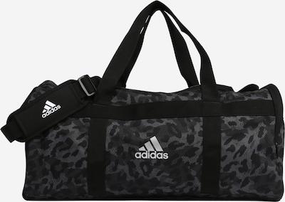 ADIDAS PERFORMANCE Sporttasche in grau / dunkelgrau / schwarz / weiß, Produktansicht