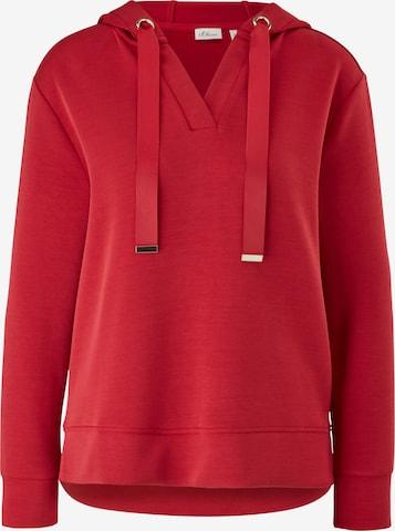 s.Oliver BLACK LABEL Kapuzensweater in Rot
