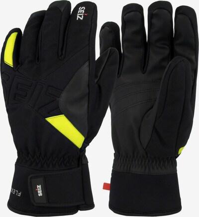 Seiz Handschuhe in neongelb / schwarz, Produktansicht