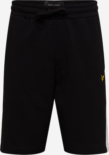 Pantaloni Lyle & Scott pe negru / alb, Vizualizare produs