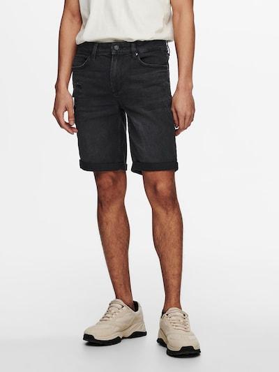 Only & Sons Jeans in de kleur Black denim, Modelweergave