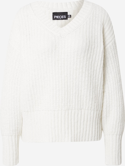 PIECES Sweater in Off white, Item view