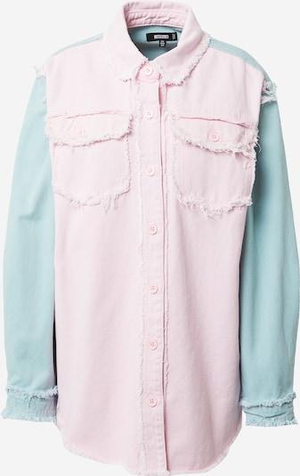 Missguided Bluza u svijetloplava / svijetloroza: Prednji pogled
