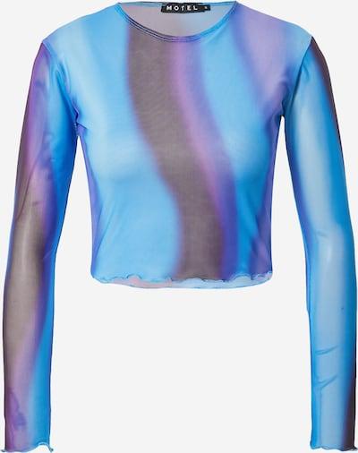 Motel T-Krekls 'BONNA', krāsa - zils / tumši zils / brūns / lillā, Preces skats