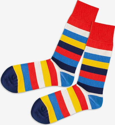 DillySocks Socken in hellblau / gelb / rot, Produktansicht