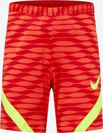 Pantaloni sport NIKE pe galben neon / roșu / roșu pepene, Vizualizare produs