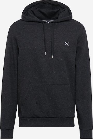 Iriedaily Sweatshirt 'RETAIN' in schwarzmeliert, Produktansicht