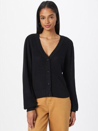 VERO MODA Strickjacke 'NEW LEXSUN' in schwarz, Modelansicht