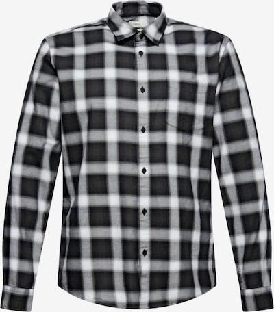 ESPRIT Hemd in grau / schwarz / weiß, Produktansicht