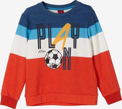 s.Oliver Sweatshirt in mischfarben / dunkelorange, Produktansicht