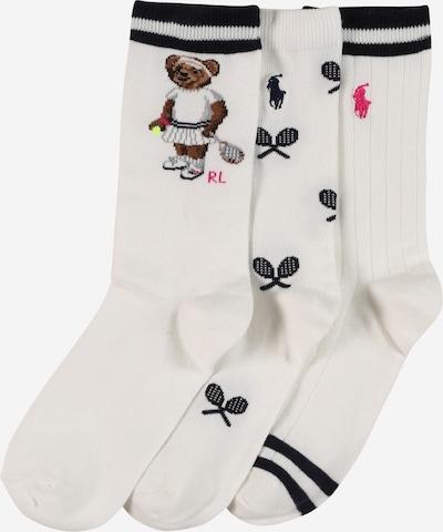 POLO RALPH LAUREN Socken 'TENISBEAR911' in pink / schwarz / weiß, Produktansicht