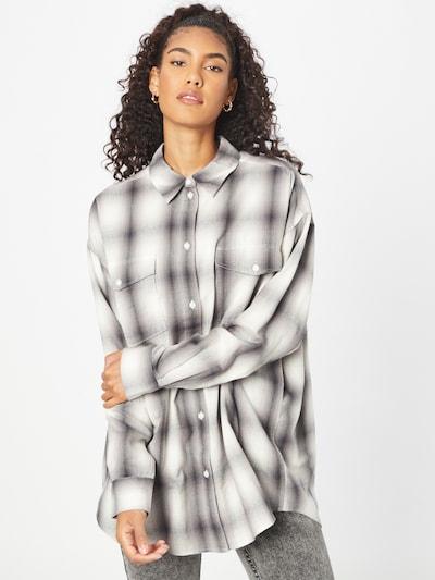 WEEKDAY Bluse 'Elin' in schwarz / weiß, Modelansicht