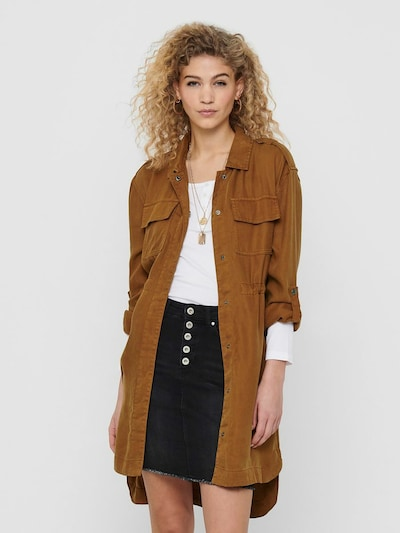 ONLY Manteau mi-saison en caramel, Vue avec modèle