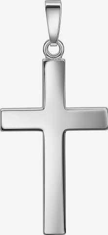 JEVELION Anhänger Kreuz in Grau