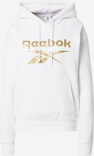 REEBOK Sportsweatshirt in gold / weiß, Produktansicht
