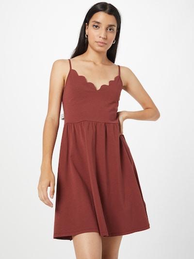 ABOUT YOU Kleid 'Annelie' in rostbraun, Modelansicht