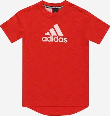 T-Shirt fonctionnel ADIDAS PERFORMANCE en rouge