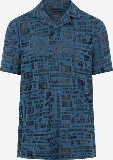 J.Lindeberg Functioneel shirt 'Brad' in de kleur Navy / Zwart, Productweergave