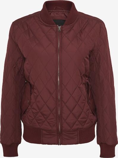 Urban Classics Jacke 'Diamond Quilt' in dunkelrot, Produktansicht