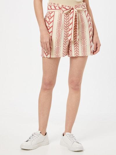 VERO MODA Shorts 'Dicthe' in rostbraun / naturweiß, Modelansicht