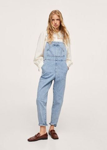 MANGO Tuinbroek jeans 'Agnes' in Blauw