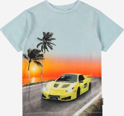 Molo Shirt 'Rasmus' in gelb / mint / dunkelorange / schwarz, Produktansicht