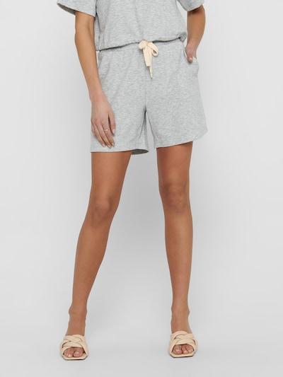 ONLY Pantalon 'Lissi' en gris chiné, Vue avec modèle
