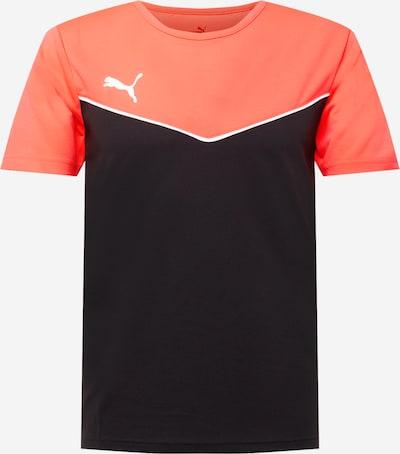 PUMA Sporta krekls, krāsa - koraļļu / melns / balts, Preces skats