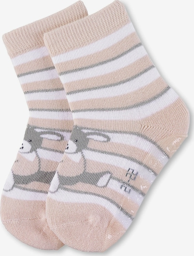 STERNTALER Socken in champagner / graumeliert / weiß, Produktansicht