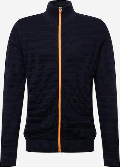 Kronstadt Strickjacke 'Folke' en bleu marine / orange, Vue avec produit