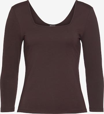 LASCANA Shirt in Brown