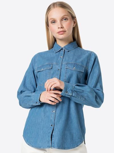 DeFacto Blūze, krāsa - zils džinss, Modeļa skats