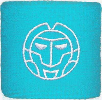 BIDI BADU Schweißband 'Madison Tech' in blau / weiß, Produktansicht