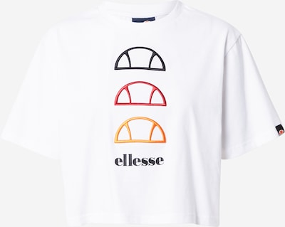 ELLESSE Shirt 'Deway' in de kleur Geel / Rood / Zwart / Wit, Productweergave