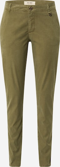 MOS MOSH Chino trousers 'Perry' in dark green: Frontal view