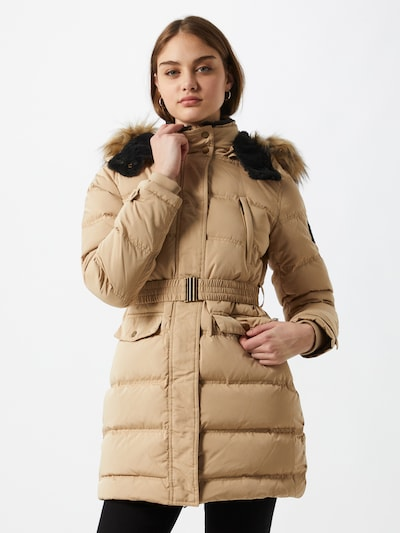 Pepe Jeans Winter coat 'Moli' in light brown / black, View model