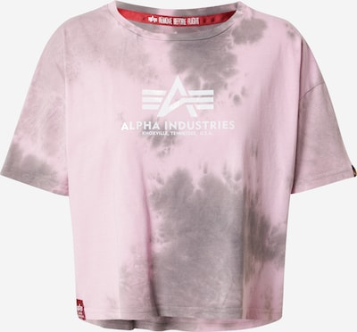 ALPHA INDUSTRIES Shirt in de kleur Stone grey / Rosa / Wit, Productweergave