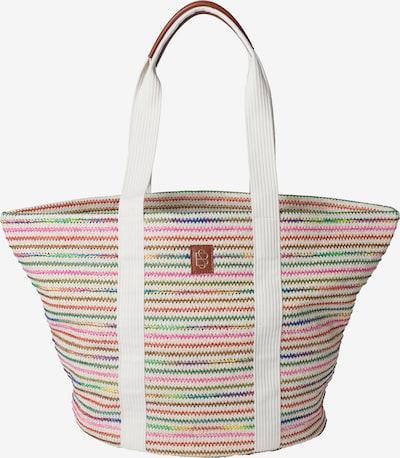 BeckSöndergaard Shopper   'Abril Carlota' in blau / dunkelgrün / orange / pink / weiß, Produktansicht