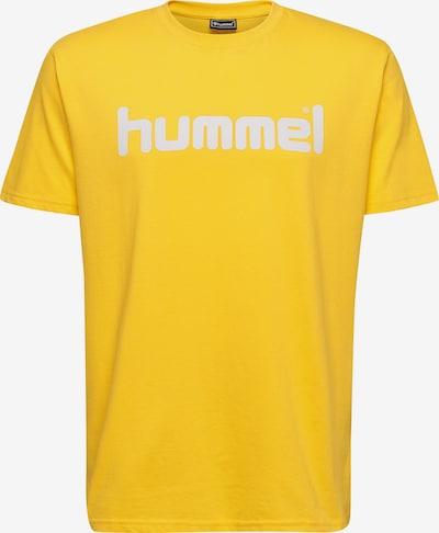 Hummel Trainingsshirt in gelb / weiß: Frontalansicht