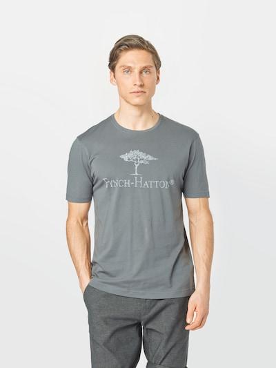 FYNCH-HATTON Тениска в тъмносиво / бяло: Изглед отпред