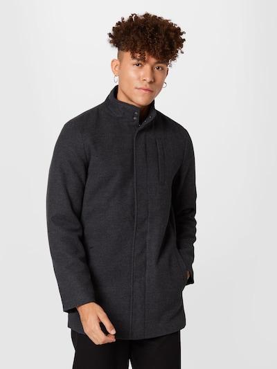 BLEND Manteau mi-saison en gris / gris foncé, Vue avec modèle