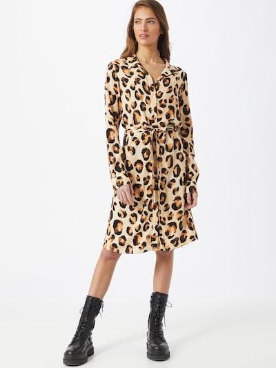 Fabienne Chapot Košilové šaty 'Dorien' - béžová / hnědá / čokoládová, Model/ka