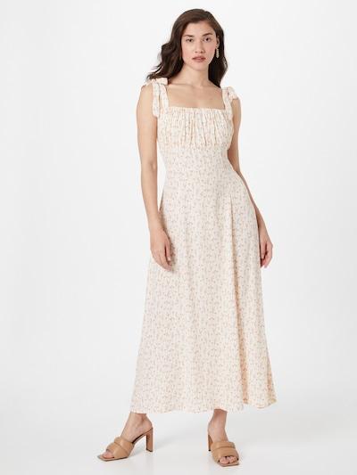 NA-KD Kleid in oliv / altrosa / weiß, Modelansicht