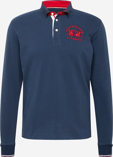 La Martina T-Shirt en bleu-gris / rouge, Vue avec produit