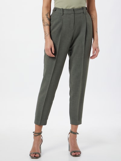 MINE TO FIVE Pleat-front trousers in Green, View model