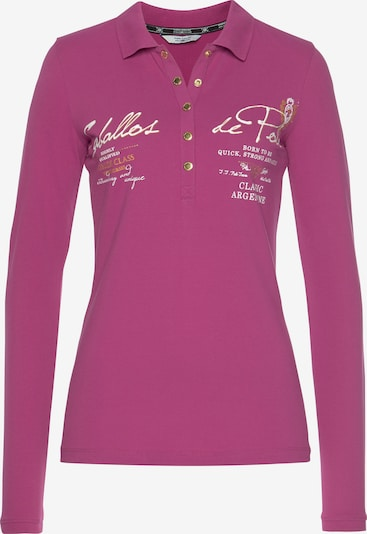 Tom Tailor Polo Team Langarm-Poloshirt in pink, Produktansicht