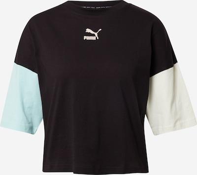 Tricou PUMA pe bej / albastru deschis / negru, Vizualizare produs