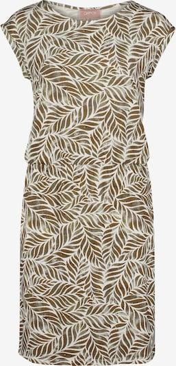 Rochie de vară Cartoon pe maro caramel / oliv / alb, Vizualizare produs