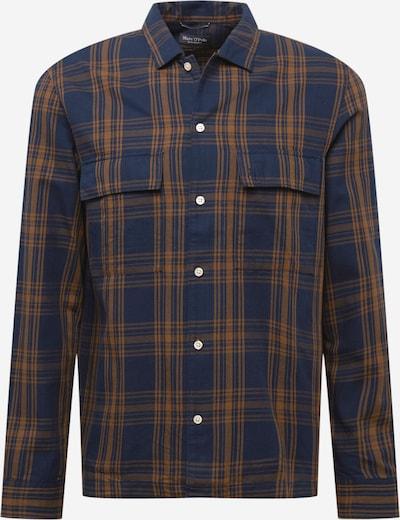 Marc O'Polo Hemd in navy / orange, Produktansicht