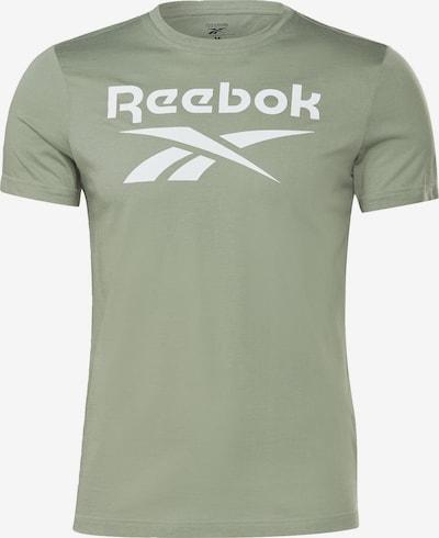 REEBOK Toiminnallinen paita värissä vaaleanvihreä / valkoinen, Tuotenäkymä